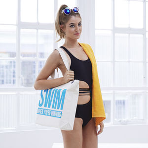 'Swim When You're Winning' Gym Bag - slogan fashion