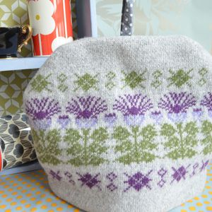 Scottish Thistle Knitted Tea Cosy - tea & coffee cosies