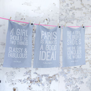 Gal's Guide Tea Towels, Set Of Three - for friends