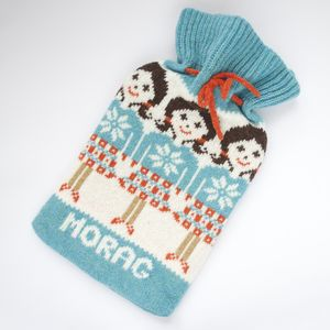 Highland Girl Fairisle Hot Water Bottle Cover - bedding & accessories
