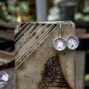 Sterling Silver Lotus Leaf Earring