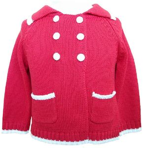 Baby Knitted Red Sailor Cardigan