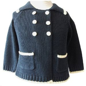 Baby Knitted Navy Sailor Cardigan - jumpers & cardigans