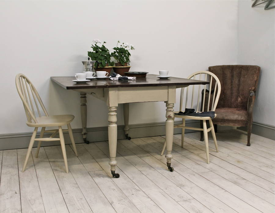 Distressed victorian painted drop leaf table by distressed but not forsaken - Painted dining tables distressed ...