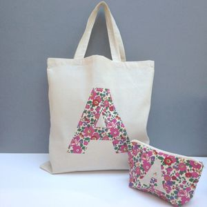 Liberty Print Applique Tote Bag - make-up bags