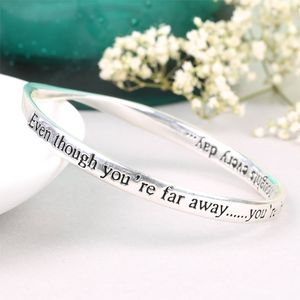 'Even Though You Are Far Away' Bangle - bracelets & bangles