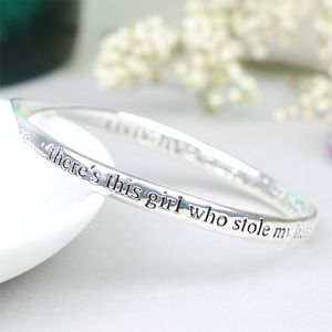 Silver 'Daughter' Meaningful Word Bangle - bracelets & bangles