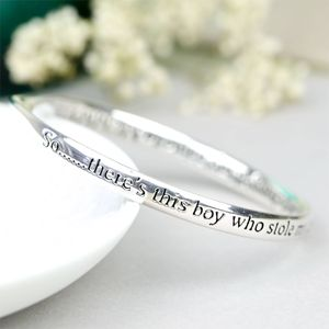 Silver 'Son' Meaningful Word Bangle - bracelets & bangles