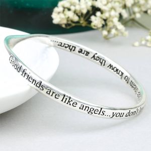 'Good Friends Are Like Angels' Word Bangle