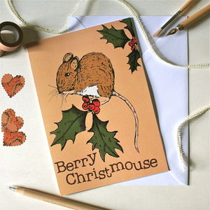 Woodland Mouse Christmas Card - christmas sale
