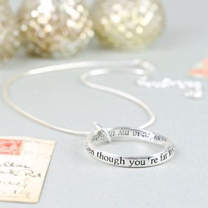 'Even Though You're Far Away' Ring Necklace