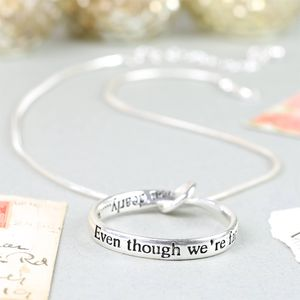 'Even Though We're Far Apart' Ring Necklace