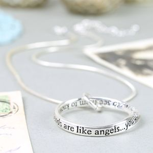 'Good Friends Are Like Angels' Ring Necklace - for friends