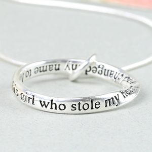 'Daughter' Meaningful Word Ring Necklace