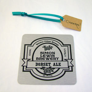 My Brewery Personalised Metal Beer Mat - placemats & coasters