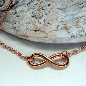 Forever Rose Gold Infinity Necklace