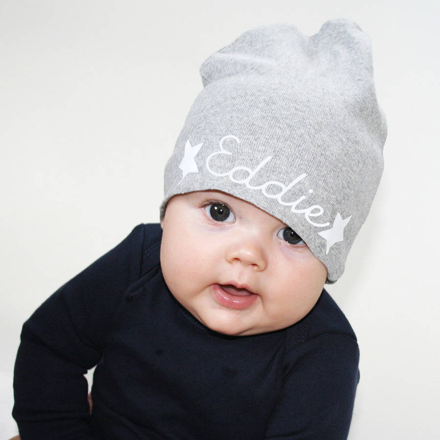 personalised baby hat by holubolu personalised childrens clothing ... 84d38beb08