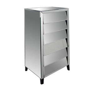 Angled Drawers Mirrored Tallboy - furniture