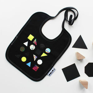 Geometric Shapes Baby Bib