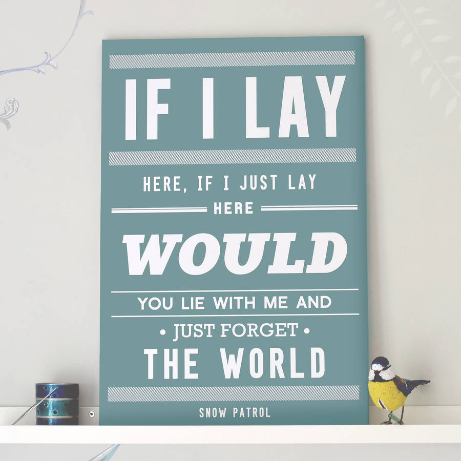 Chasing cars snow patrol print by oakdene designs dusk blue stopboris Choice Image