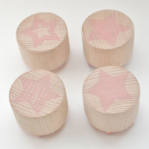 Star Hand Carved Rubber Stamps