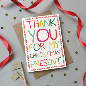 Christmas Thank You Card Pack - cards & wrap