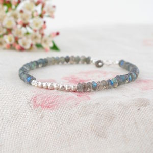 Bella Labradorite And Sterling Silver Bracelet