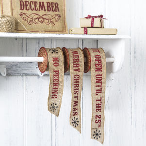 Hessian Christmas Ribbon