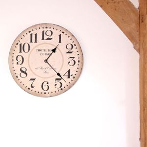 Vintage 'L'hotel Blanc De Paris' Wall Clock - clocks