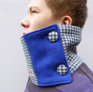 Colour Block Neckwarmer Harris Tweed