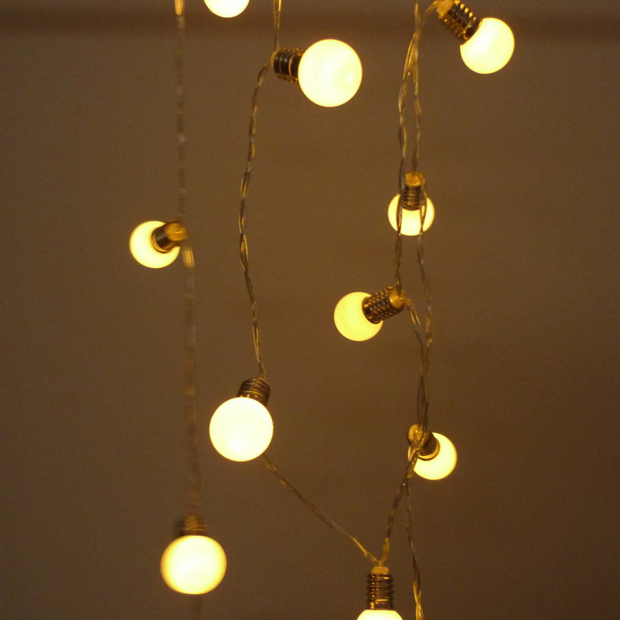 frosted bulb fairy light string by the lovely light company notonthehighstreet.com