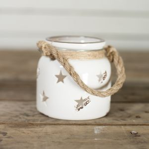 Ceramic Star Candle Holder - table decorations