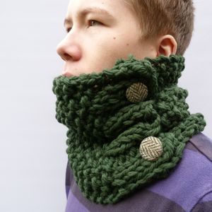 Darks Chunky Knit Cowl - hats, scarves & gloves