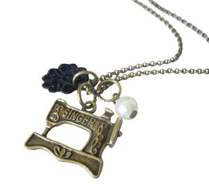 Sewing Machine Charm Necklace - necklaces & pendants