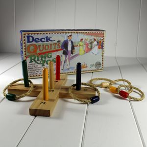 Quoits Wooden Deck Game - toys & games