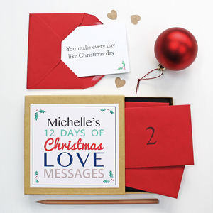 Personalised Christmas Love Messages - christmas cards