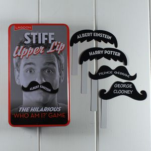 Stiff Upper Lip Who Am I Game - board games & puzzles