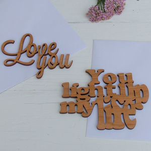 'In Your Own Words' Cherrywood Cards
