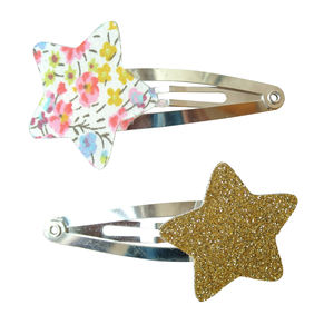 Phoebe Liberty And Glitter Star Hair Clips