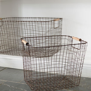Set Of Two Wire Storage Baskets