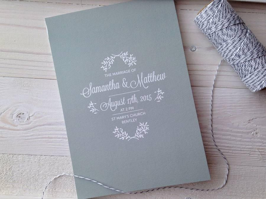 Perfect Day Wedding Invitation Suite