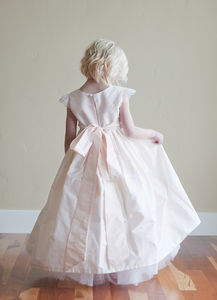 A Pure Silk Flower Girl Or First Communion Dress
