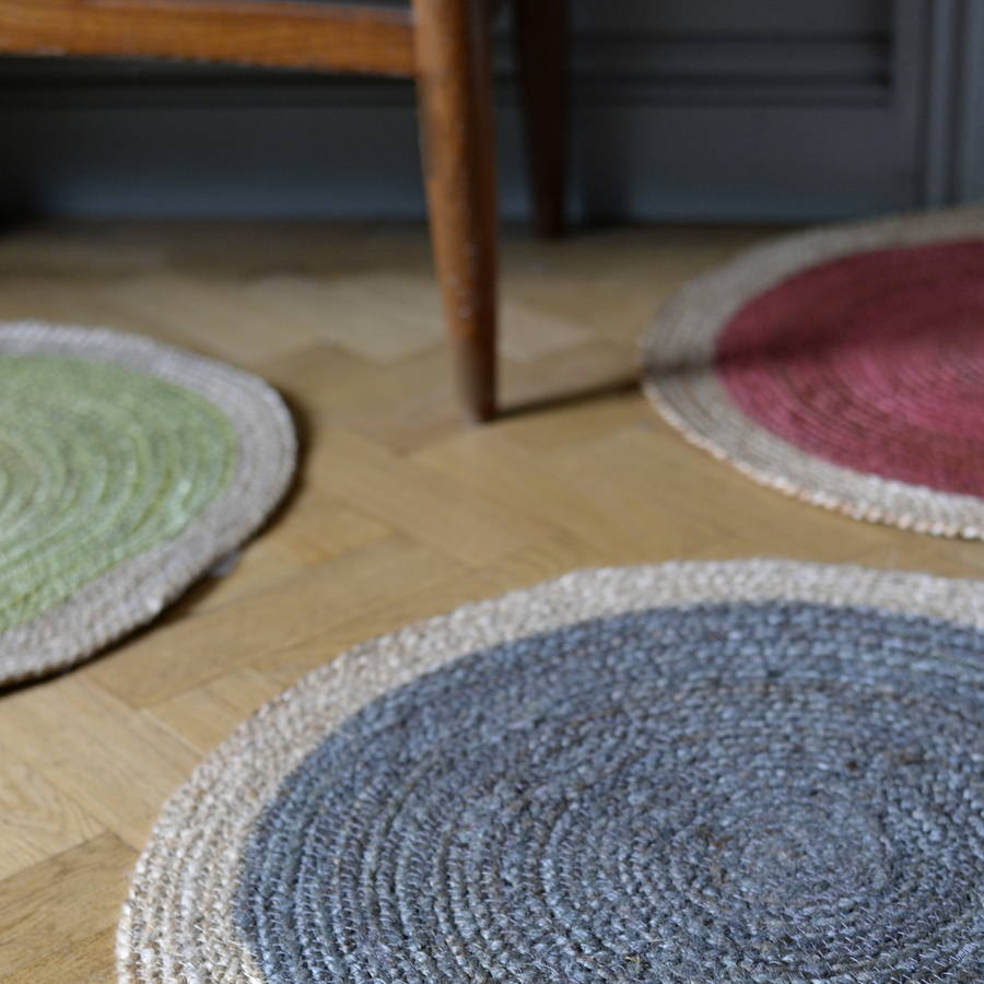 Colour Pop Jute Rug By The Forest & Co