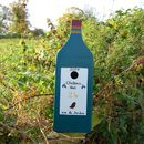 Christmas Personalised Wine Bottle Bird Box