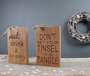 Christmas Quote Chopping Boards