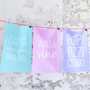Top Up? Tea Towels, Set Of Three - view all sale items