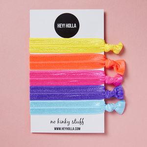 No Kinky Stuff! Hair Ties, Tropical Popsicle - hair accessories