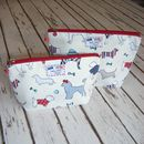 Dog Silhouettes Makeup Toiletry Wash Bag