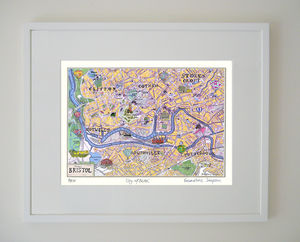 Bristol Map Limited Edition Giclee Print - contemporary art