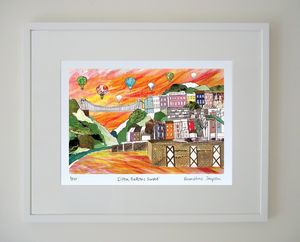 Clifton Balloons Sunset Limited Edition Giclee Print - contemporary art